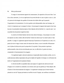 Reflexion Personnelle D Un Stage Tc Dissertations Gratuits