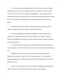 dissertation le président de la république clé de voute des institutions