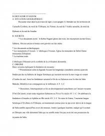dissertation sur axoum