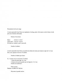 Stage Assp Ecole Maternelle Documents Gratuits Dissertation