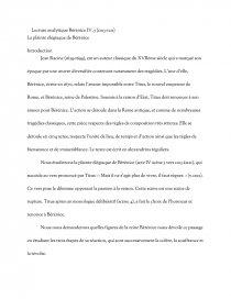 dissertation sur berenice de racine