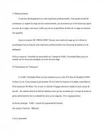Rapport De Stage Plomberie Tisec Mémoire Juju38100