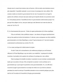 exemple d'une dissertation de droit constitutionnel