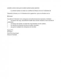 dissertation sur tchernobyl