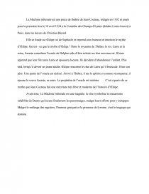 la machine infernale cocteau dissertation