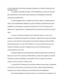 dissertation le pouvoir exécutif pour les rédacteurs de la constitution de 1958