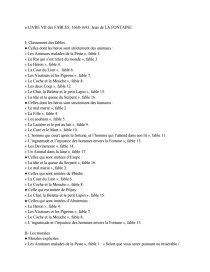 Analyse Du Livre Vii Des Fables De Jean De La Fontaine