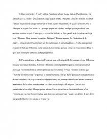 dissertation lexistentialisme est un humanisme