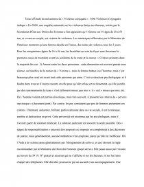 dissertation la violence