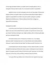 dissertation pour ou contre la polygamie