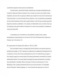 dissertation vème république régime parlementaire présidentiel