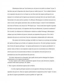 dissertation régime présidentiel et régime parlementaire