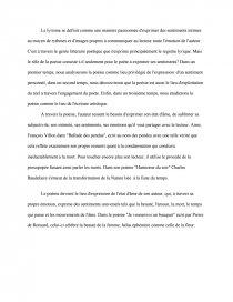 dissertation sur la poesie lyrique