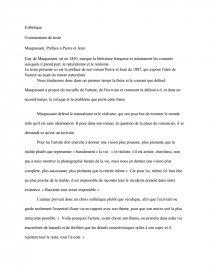 Maupassant Preface A Pierre Et Jean Fiche De Lecture Tyranides Dissertation
