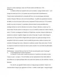 dissertation lile des esclaves marivaux