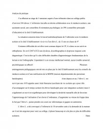 Analyse De Pratique Ifsi Infirmiere Scolaire Recherche De