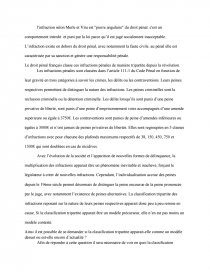 les limites de la classification tripartite des infractions dissertation