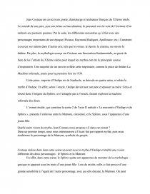 dissertation la machine infernale jean cocteau