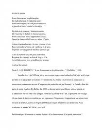 dissertation sur les regrets de du bellay