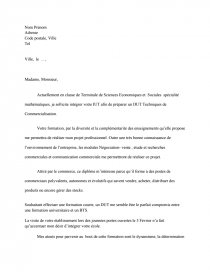 Lettre De Motivation Dut Tc Documents Gratuits Romain62
