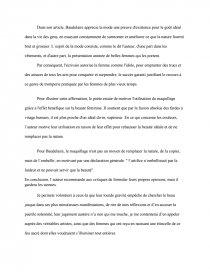 Etude Du Poeme Le Peintre De La Vie Moderne De Charles Baudelaire Memoire Ducu