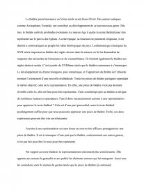 introduction dissertation sur le théatre