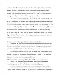 dissertation cyrano de bergerac acte 3 scene 7