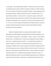 dissertation littéraire jacques le fataliste