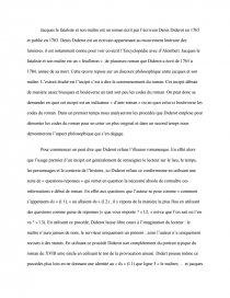 dissertation sur jacques le fataliste de diderot