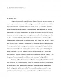 dissertation adoption homoparentale