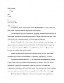Lettre De Motivation Agent D Escale Rapports De Stage Cara93