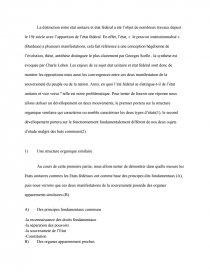 dissertation etat unitaire et état fédéral