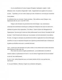 Lettre De Motivation Dut Gea Dissertation Cherinedjelassi