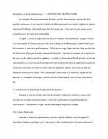 Dissertation En Droit Constitutionnel La Separation De Pouvoir Recherche Document Kyrian