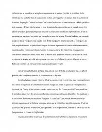 dissertation le président en période de cohabitation