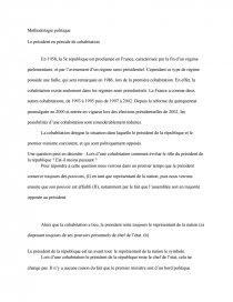 dissertation le president en periode de cohabitation