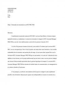 Lettre De Réorientation Bts Pme Pmi Mémoire Tommy60