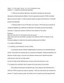 dissertation la synthèse des protéines