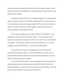 dissertation sur le pacs et le concubinage