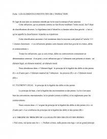 dissertation les éléments constitutifs de linfraction
