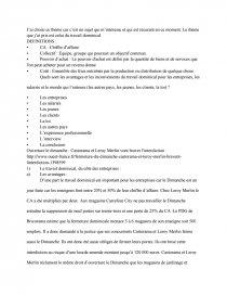 dissertation le travail dominical