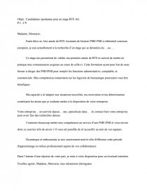 Lettre De Motivation Stage Bts Ag Rapports De Stage Lc187