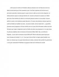 Lettre De Motivation Pour La Formation Caferuis Compte Rendu
