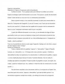 oral bac espagnol espacios e intercambios
