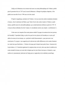 sujet de dissertation sur zadig de voltaire