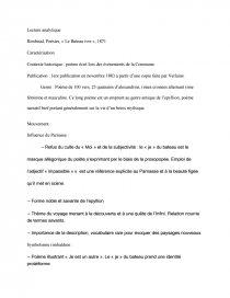 Lecture Analytique Le Bateau Ivre Note De Recherches Toune96