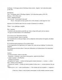 introduction dissertation barrage contre le pacifique