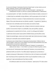 optimisation fiscale et abus de droit dissertation
