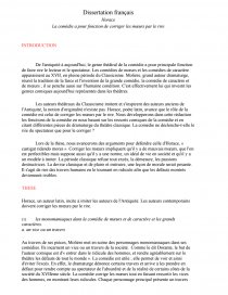 castigat ridendo mores dissertation fonctions comédie