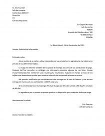 Exemple De Lettre Commerciale En Espagnol - Le Meilleur Exemple